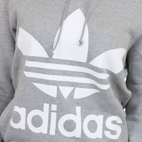 Adidas Originals Damen Hoody Trefoil grau/weiß