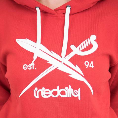 Iriedaily Damen Hoody Big Flag rot