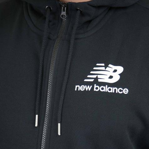 New Balance Zip-Hoody Essentials Brushed Scuba schwarz