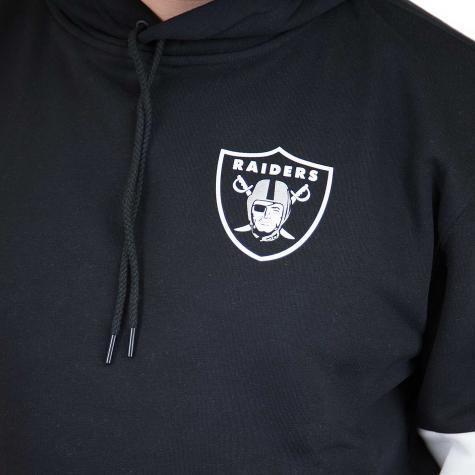 New Era Hoody Colour Block Oakland Raiders schwarz