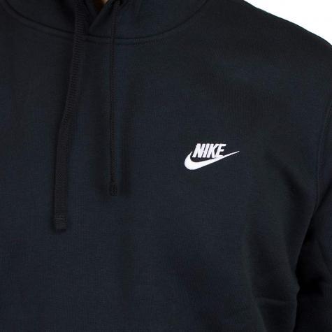 Nike Hoodie NSW PO Fleece Club schwarz/weiß