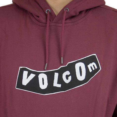 Volcom Hoody Supply Stone weinrot