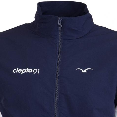 Cleptomanicx Trainingsjacke Track dunkelblau/weiß/orange