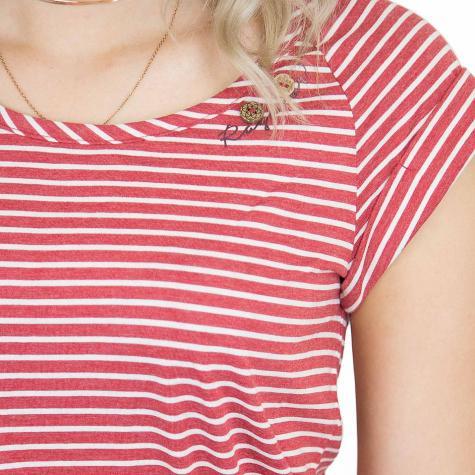 Ragwear Kleid Glitter Organic rot