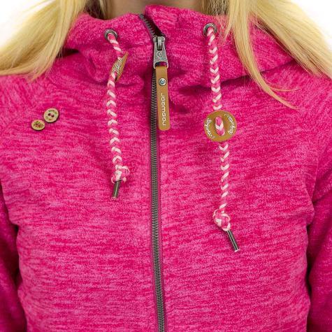 Ragwear Damen Zip-Hoody Terry Zip pink