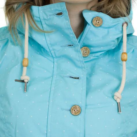 Ragwear Damen-Übergangsjacke Lynx Dots türkis