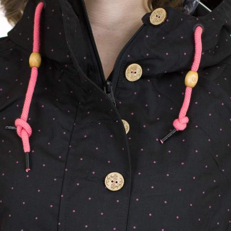 Ragwear Damen-Übergangsjacke Lynx Dots schwarz