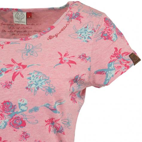 Ragwear Damen T-Shirt Mint Flowers rosa