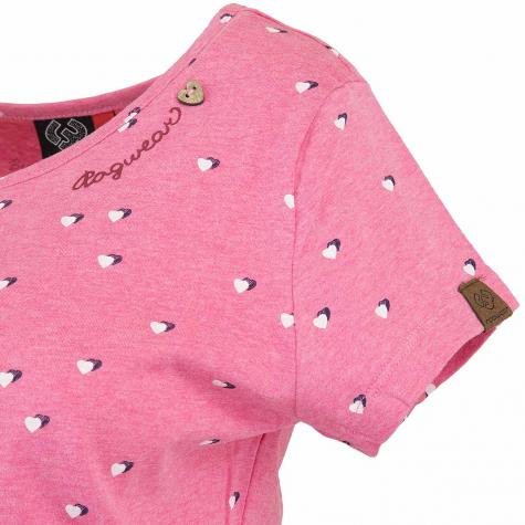 Ragwear Damen T-Shirt Mint Hearts pink