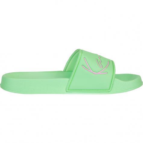 Karl Kani Signature Pool Slides Damen Badelatschen grün