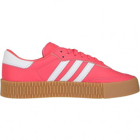 Adidas Originals Damen Sneaker Sambarose rot/weiß
