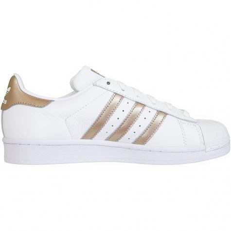 Adidas Originals Damen Sneaker Superstar weiß/gold