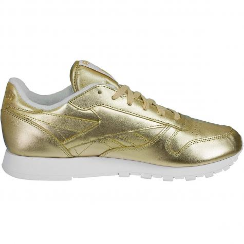 Reebok Damen Sneaker Classic Leather Spirit gold/weiß