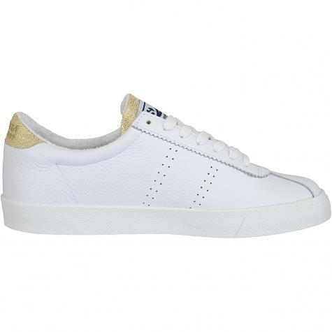 Superga Damen Sneaker Comflealame weiß/gold