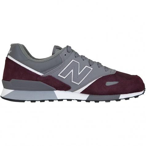 New Balance Sneaker 446 Wildleder/Textil weinrot/grau