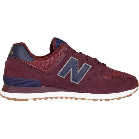 New Balance Sneaker 574 weinrot