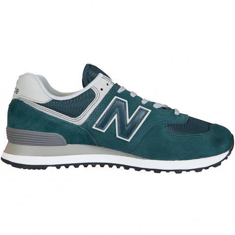 New Balance Sneaker 574 Leder/Textil/PU grün