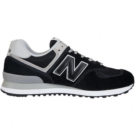 New Balance Sneaker 574 Wildleder/Mesh/Synthetik schwarz