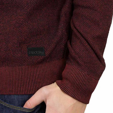 Iriedaily Strickpullover Seed Degrade anthrazit/rot