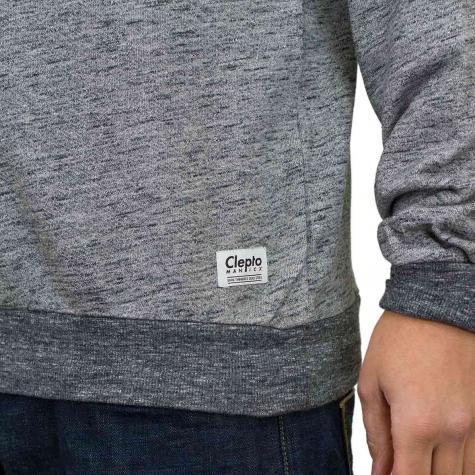 Cleptomanicx Sweatshirt Vintage Print grau/schwarz