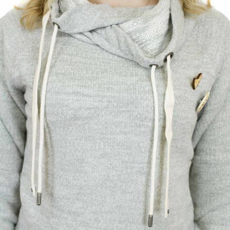 Khujo Damen Sweatshirt Alva hellgrau
