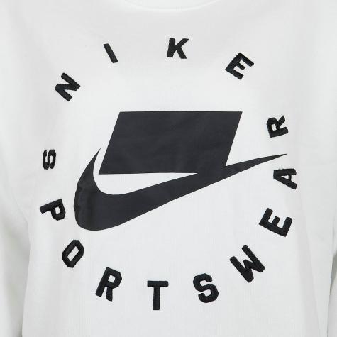 Nike Damen Sweatshirt Boyfriend French Terry weiß/schwarz