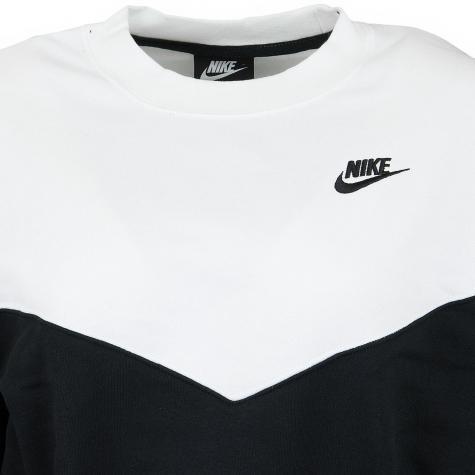 Nike Damen Sweatshirt Heritage Fleece schwarz/weiß