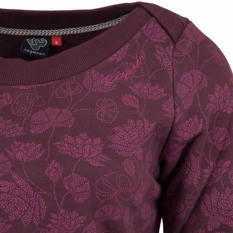 Ragwear Damen Sweatshirt Tashi weinrot