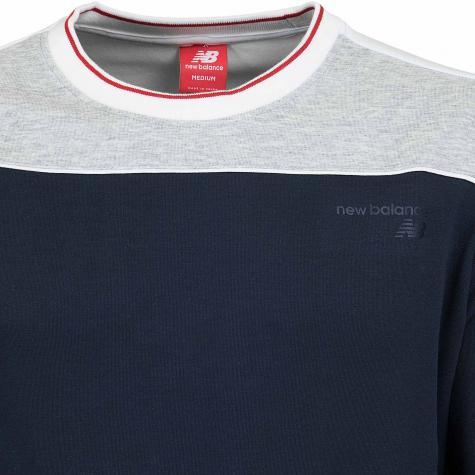 New Balance Sweatshirt Athletics Select grau/dunkelblau