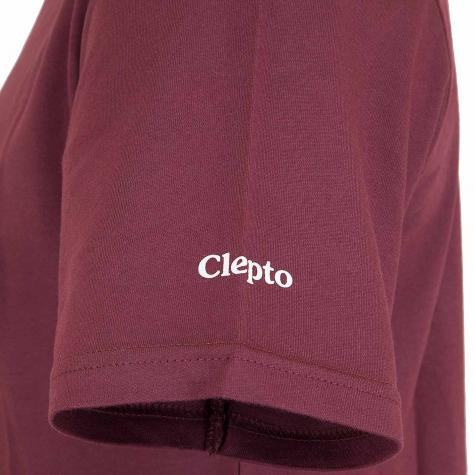 Cleptomanicx T-Shirt Mowe dunkel rot