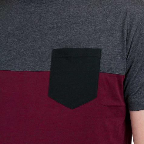 Iriedaily T-Shirt Block Pocket weinrot