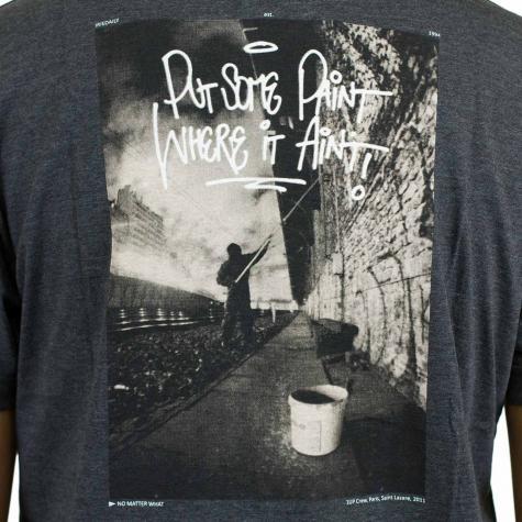 Iriedaily T-Shirt Put Paint anthrazit melange