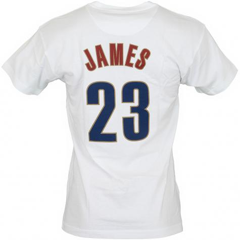 Mitchell & Ness T-Shirt Cleveland Cavaliers James weiß