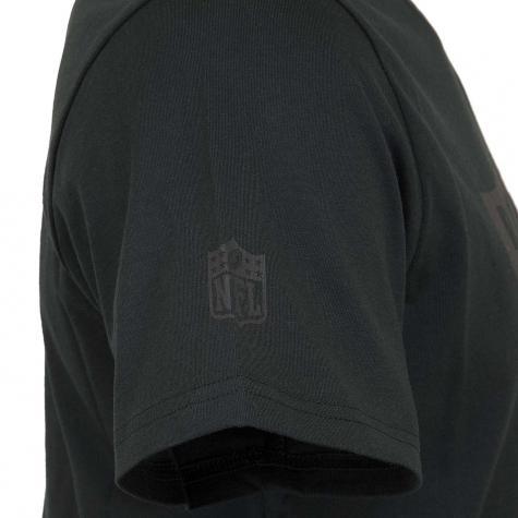 New Era T-Shirt NFL Tonal Black Logo Oakland Raiders schwarz