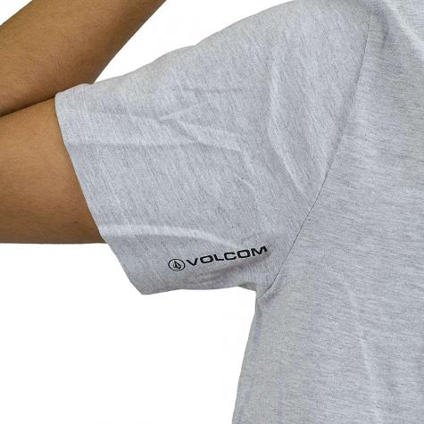 Volcom T-Shirt Circle Stone Basic grau meliert