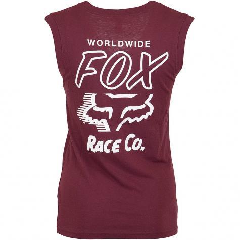 Fox Damen Tanktop Worldwide weinrot