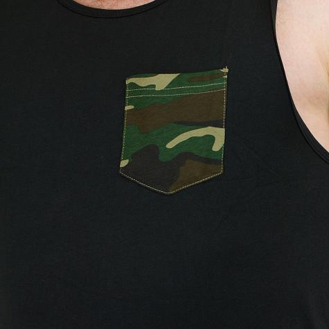 Urban Classics Tanktop Contrast Pocket Jersey Big schwarz/camo