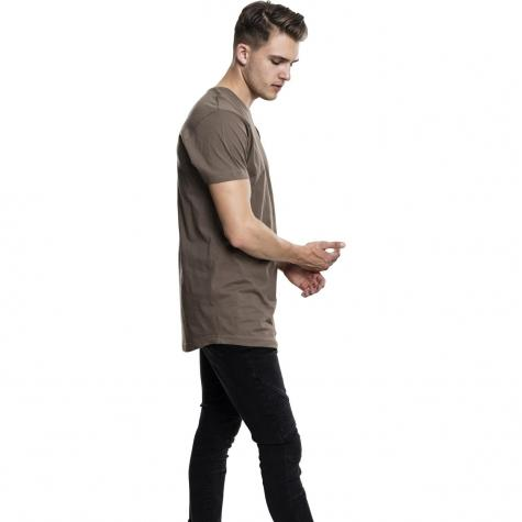Urban Classics T-Shirt Shaped Long armee grün