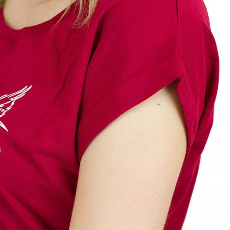 Iriedaily Damen T-Shirt Skateowl 2 carmin red
