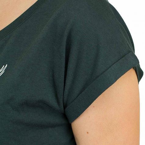 Iriedaily Damen T-Shirt Skateowl 2 dark grün melange