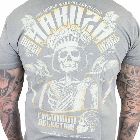 Yakuza Premium T-Shirt Vintage 202 grau
