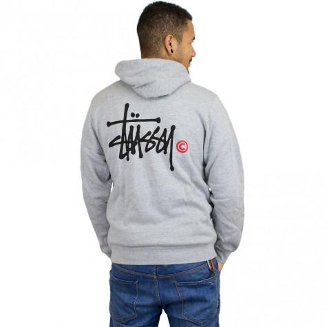 Stüssy Zip-Hoody Basic Logo grey