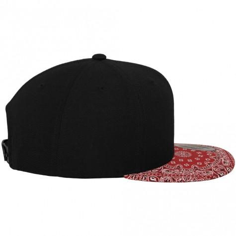 Bandana Snapback Cap black/red
