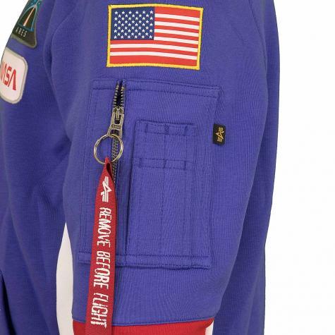Alpha Industries Sweatshirt Space Camp blau