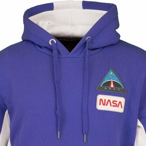 Alpha Industries Hoody Space Camp blau