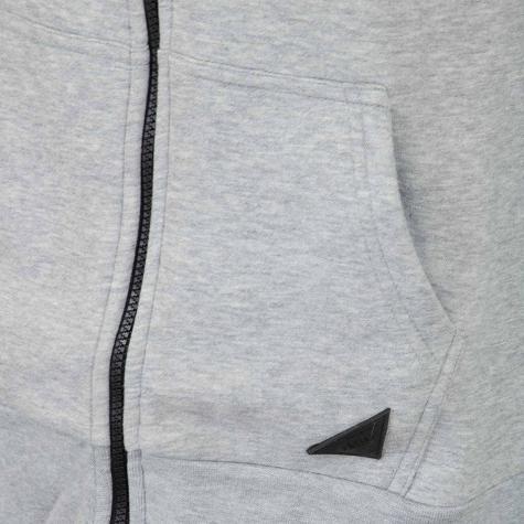 Mazine Zip-Hoody Logan Heavy bordeaux/grau