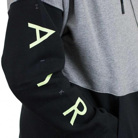 Nike Zip-Hoody Air Fleece carbon/weiß