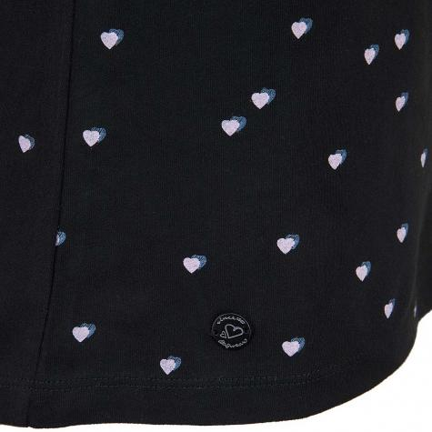 Ragwear Damen T-Shirt Mint Hearts schwarz