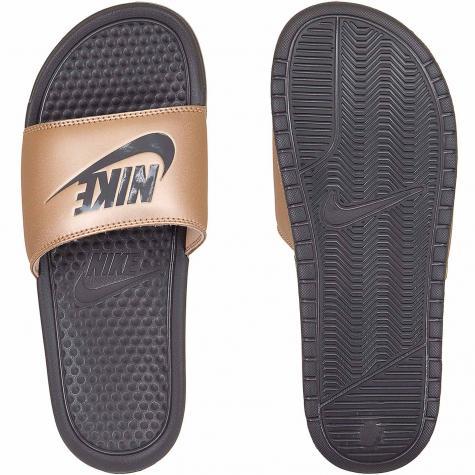 Nike Damen Badelatschen Benassi Just Do It bronze/grau