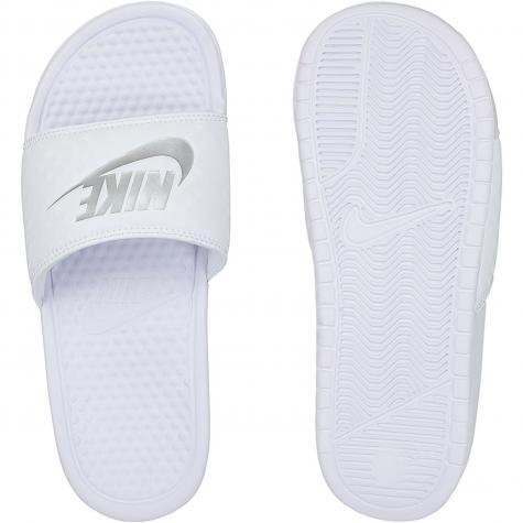 Nike Damen Badelatschen Benassi Just Do It weiß/silber